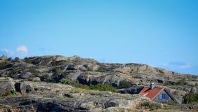 Casa de Hidem en la isla roky Imágenes de archivo libres de regalías