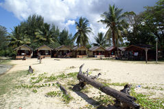 Casa de huéspedes en la playa foto de archivo