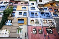 Casa de Hundertwasser em Viena, Áustria Fotografia de Stock