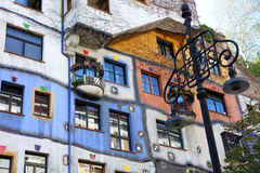 Casa de Hundertwasser em Viena, Áustria Imagem de Stock Royalty Free