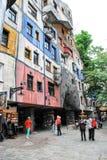 Casa de Hundertwasser en Viena, Austria Fotografía de archivo