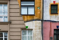 Casa de Hundertwasser en Viena, Austria, Europa Fotos de archivo libres de regalías