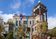 Casa de Hundertwasser, mún Soden, Alemania Foto de archivo
