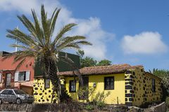 Casa de Ilhas Canárias típica no La Laguna Imagens de Stock Royalty Free