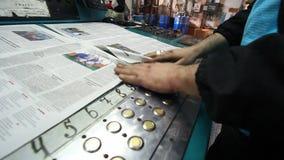 Casa de impressão Fábrica do jornal vídeos de arquivo