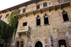 A casa de Juliet em Verona fotos de stock