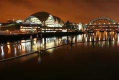 Casa de la ópera y del puente de Tyne Imagen de archivo libre de regalías
