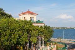 Casa de la arquitectura de la belleza en cienfuegos cuba Imagen de archivo libre de regalías