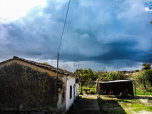 Casa de la cabaña en Corfú Fotos de archivo libres de regalías