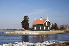 Casa de la cabaña en una península Imagen de archivo