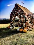 Casa de la calabaza Fotografía de archivo libre de regalías