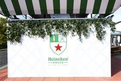 Casa de la cerveza de Heineken en Billie Jean King Tennis Center durante el US Open 2013 Foto de archivo libre de regalías
