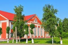 Casa de la ciudad de la cultura nombrada después de Maxim Gorky en la ciudad de Kar Foto de archivo