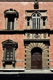 Casa de la ciudad de la fachada, Florencia, Italia foto de archivo