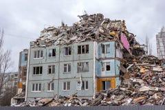 Casa de la demolición Imagen de archivo