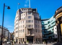 Casa de la difusión de la BBC en Londres, hdr imagenes de archivo