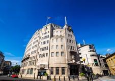 Casa de la difusión de la BBC en Londres, hdr imágenes de archivo libres de regalías