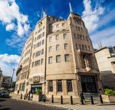 Casa de la difusión de la BBC en Londres (hdr) fotografía de archivo libre de regalías