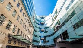 Casa de la difusión de la BBC en Londres (hdr) foto de archivo libre de regalías