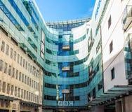 Casa de la difusión de la BBC en Londres (hdr) imágenes de archivo libres de regalías