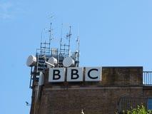 Casa de la difusión de la BBC Irlanda del Norte en Belfast imagenes de archivo