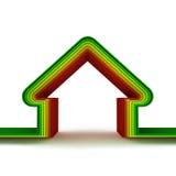 Casa de la energía. Concepto ahorro de energía stock de ilustración