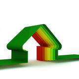 Casa de la energía. Concepto ahorro de energía ilustración del vector