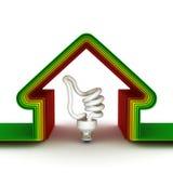 Casa de la energía. Concepto ahorro de energía Foto de archivo