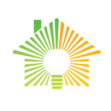 Casa de la energía de la insignia Fotografía de archivo libre de regalías