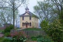 Casa de la escuela vieja Imagenes de archivo