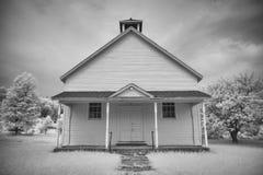 Casa de la escuela vieja en infrarrojo Fotografía de archivo libre de regalías