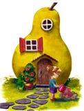 Casa de la fábula stock de ilustración