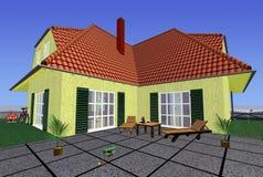 Casa de la familia ilustración del vector