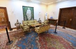 CASA DE LA FAMILIA DE CEAUSESCU - MUSEO DEL PALACIO DE PRIMAVERII Imágenes de archivo libres de regalías