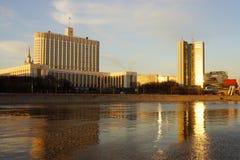 Casa de la Federación Rusa, Moscú del gobierno Fotos de archivo