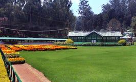 Casa de la flor en jardín Fotos de archivo libres de regalías