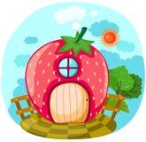 Casa de la fresa ilustración del vector