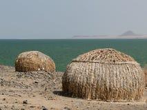 Casa de la gente de la tribu del EL Molo Foto de archivo