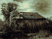 Casa de la granja de la era de la depresión Imágenes de archivo libres de regalías