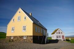 Casa de la granja en Glaumbaer, Islandia imagenes de archivo