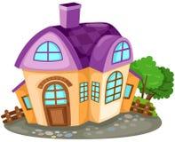 Casa de la historieta stock de ilustración