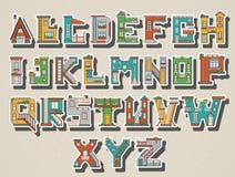 Casa de la historieta del alfabeto Fotografía de archivo libre de regalías