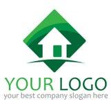 Casa de la insignia stock de ilustración