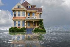 Casa de la inundación imagen de archivo libre de regalías