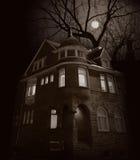 Casa de la luna de levantamiento Fotografía de archivo