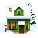 Casa de la Navidad Foto de archivo