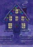Casa de la Navidad Fotografía de archivo libre de regalías