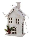 Casa de la Navidad del invierno Imagenes de archivo