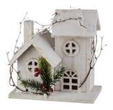 Casa de la Navidad del invierno Fotos de archivo