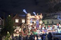 Casa de la Navidad en Brooklyn Nueva York Fotografía de archivo